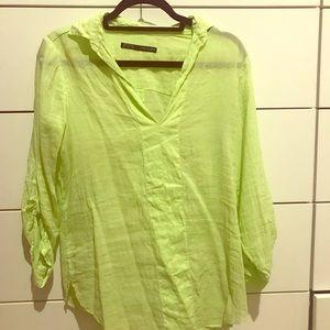 Linen collared shirt